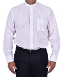 Traditional Clerical Shirt Long Sleeve White CT068