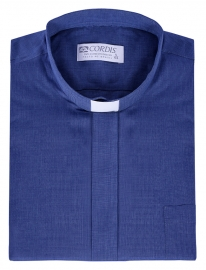 Traditional Clerical Shirt Short Sleeve Blue Blend CT067