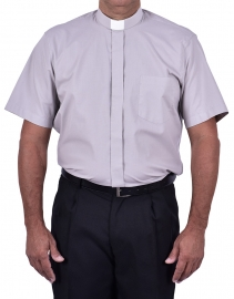 Traditional Clerical Shirt Short Sleeve Gray CT067