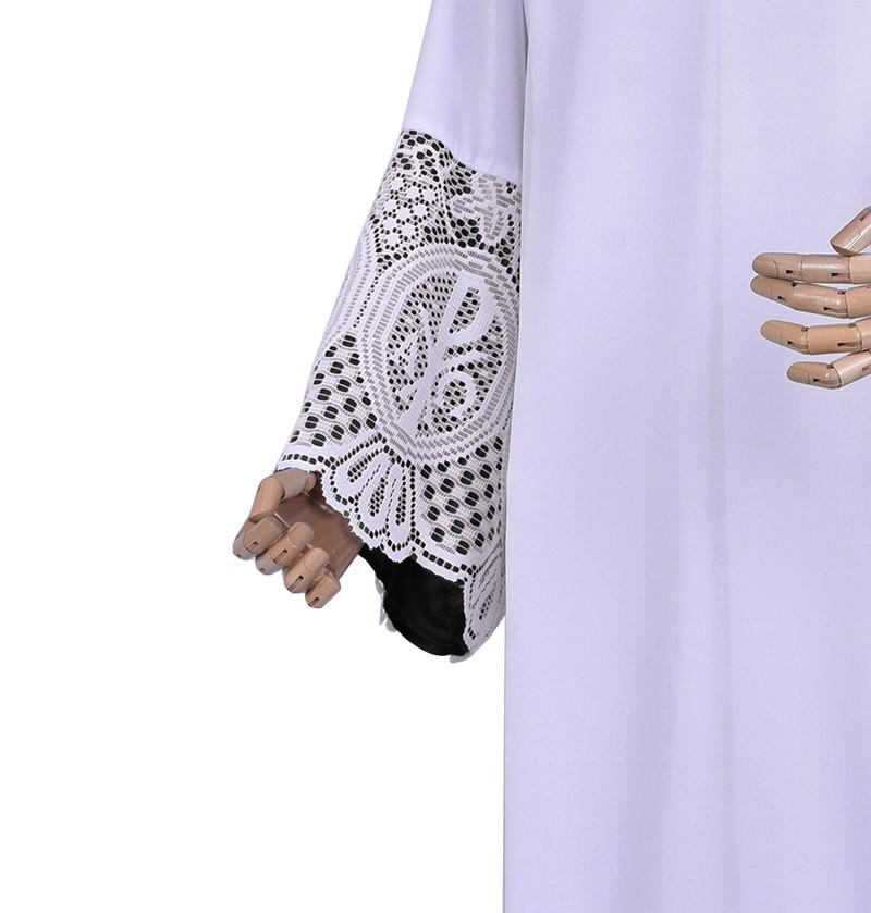 Alb Lace Liturgical PX 30cm Lining Black TU026