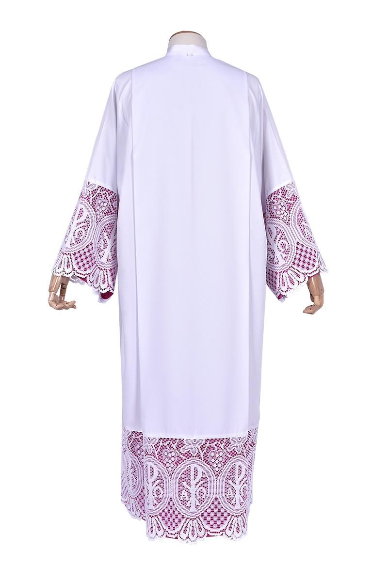 Pleats Liturgical Lace Tunic PX 30cm Lining Violaceous TU023