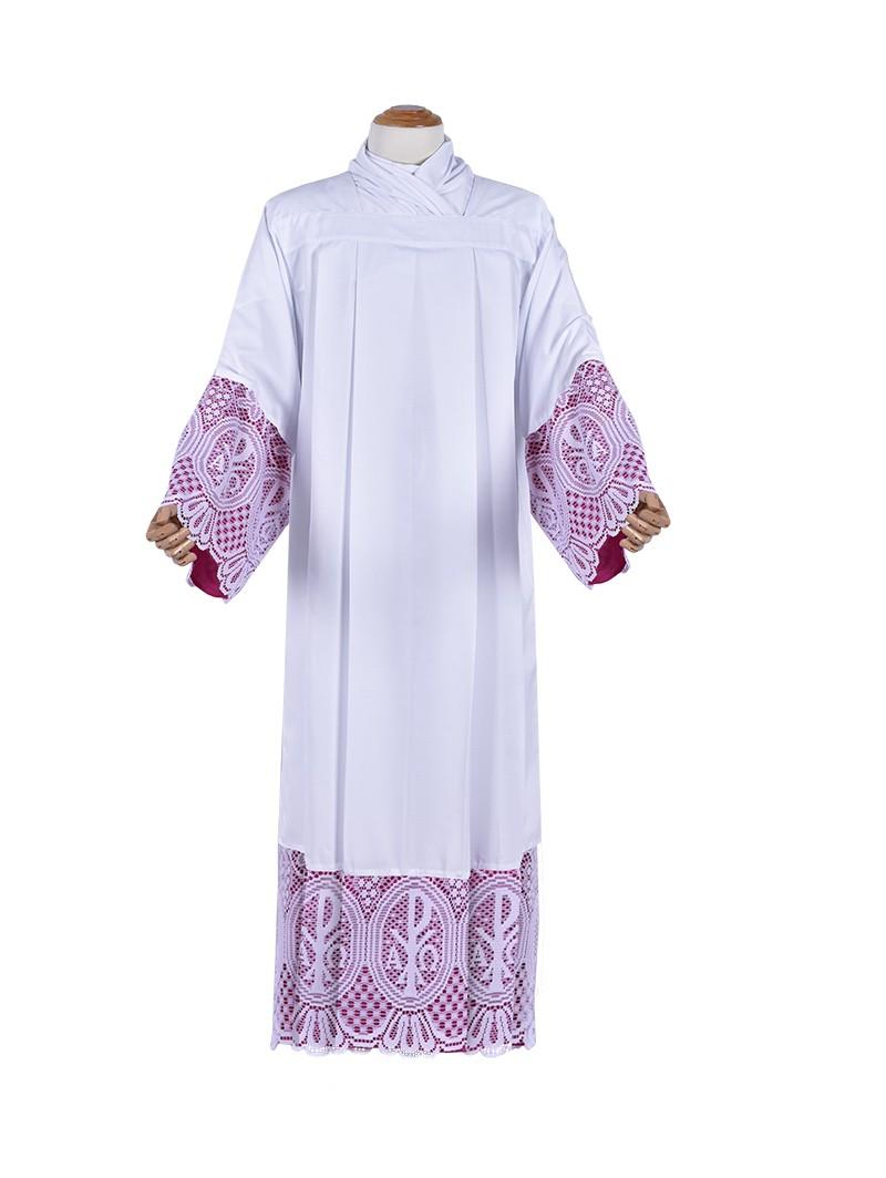 Alb Lace Liturgical PX 30cm Lining Violaceous TU026