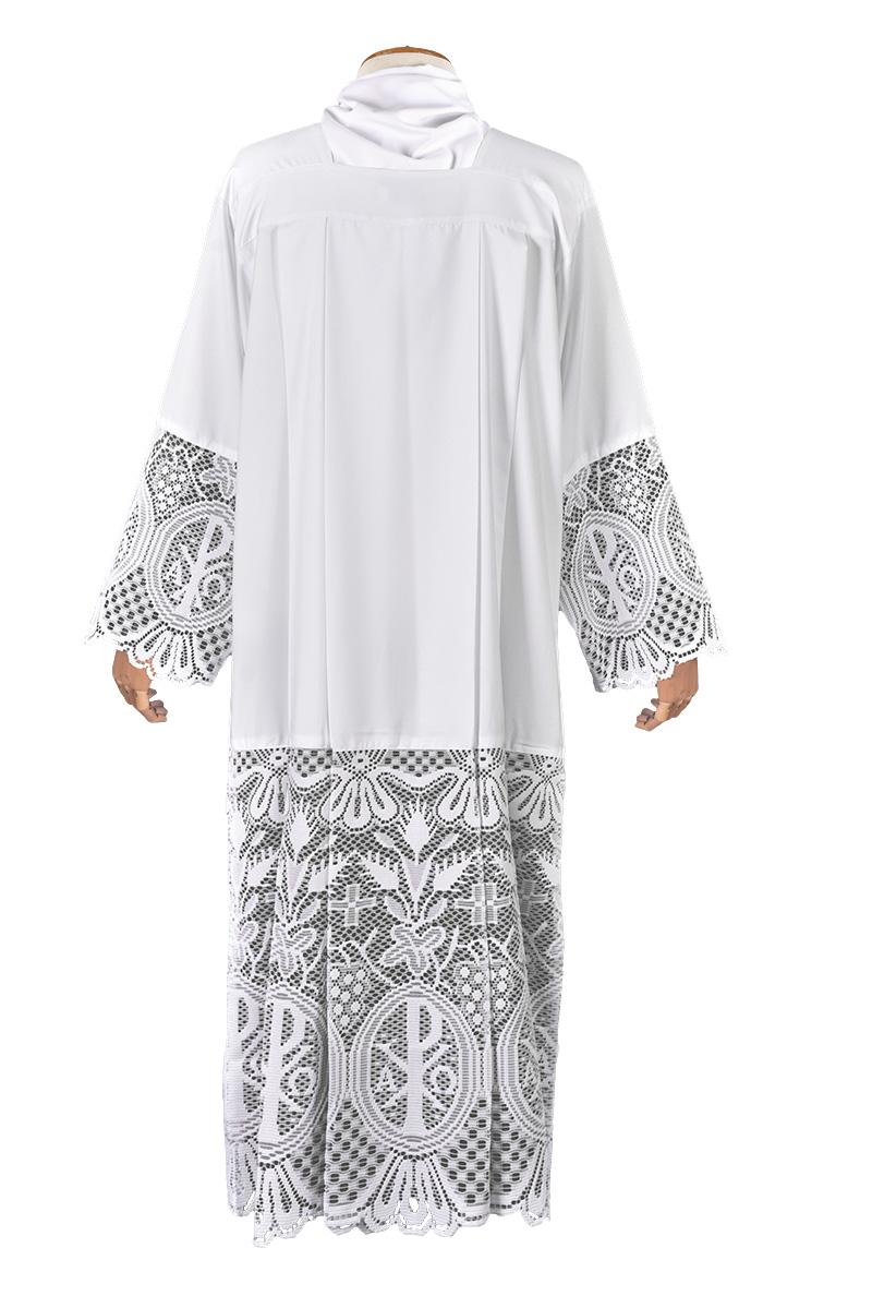 Alb Lace Liturgical PX 60 cm Lining Black TU025