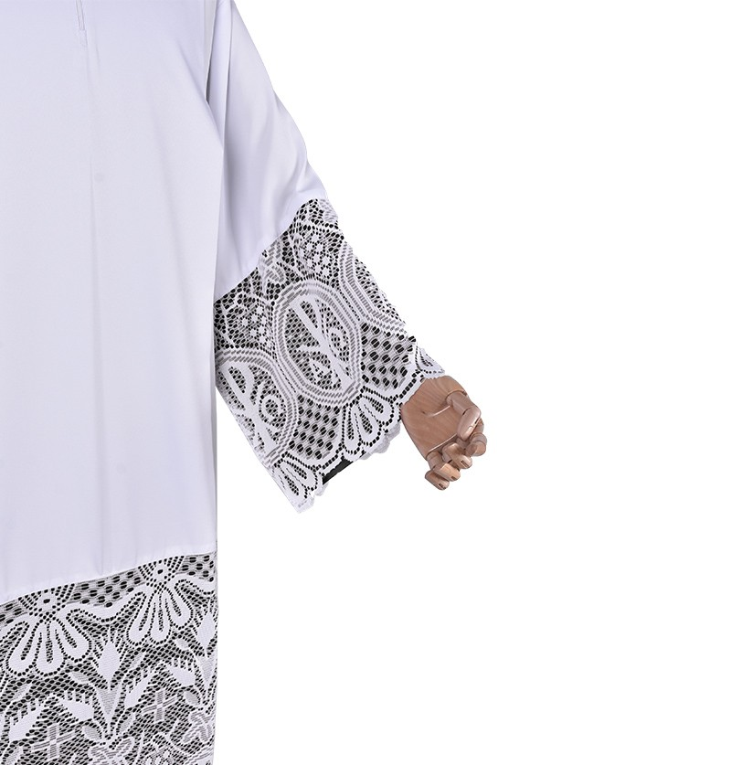Pleats Liturgical Lace Tunic PX 60 cm Lining Black TU024