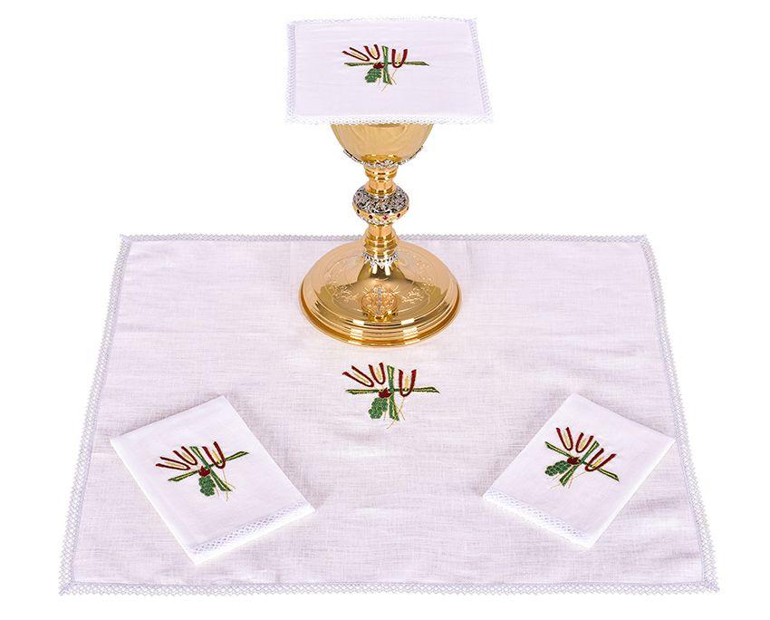 Altar Set Linen Flax Wheat and Grape B007
