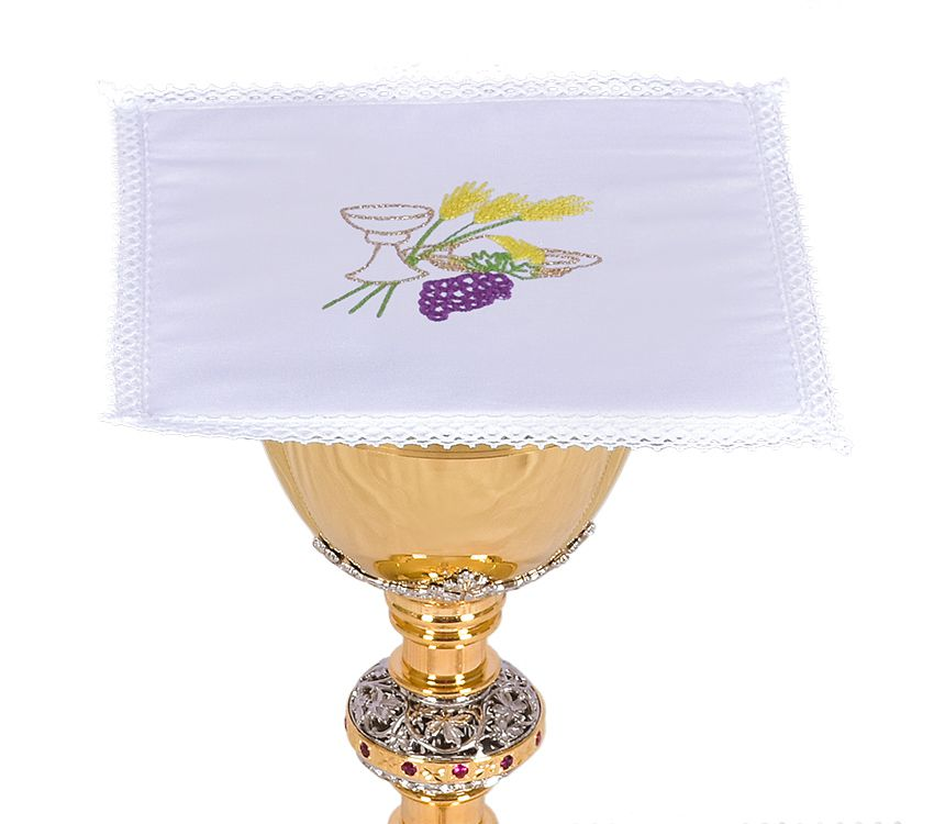 Altar Set Cotton Chalice Wheat and Grape B010