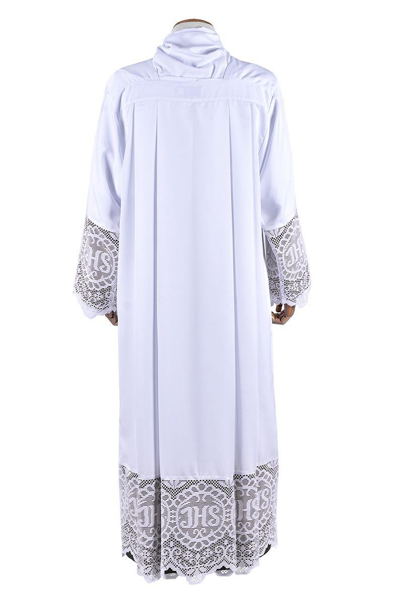 Alb Lace Liturgical JHS 30 cm Lining Black TU020