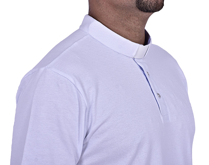 Clerical Polo Shirt White PL001
