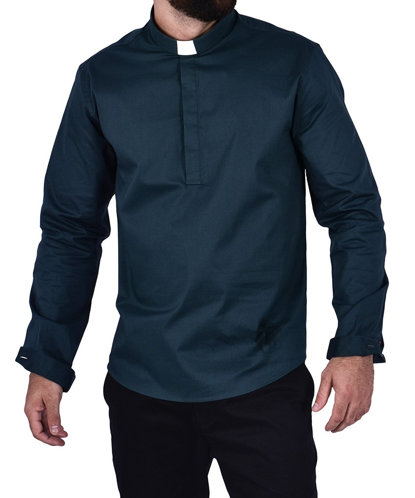 Clerical Shirt Slim Young Priest Tricoline
