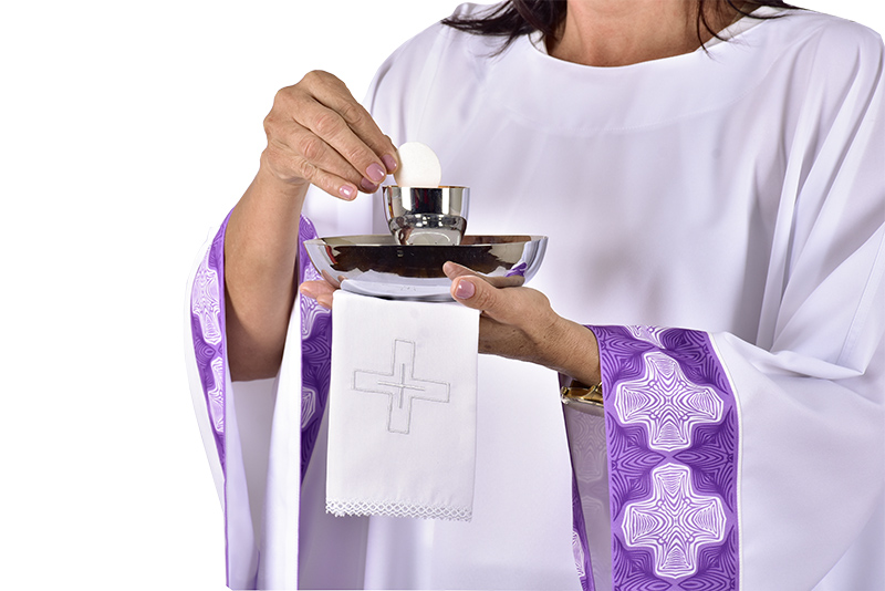 Purifier for distribution of the Eucharist in cotton SA193