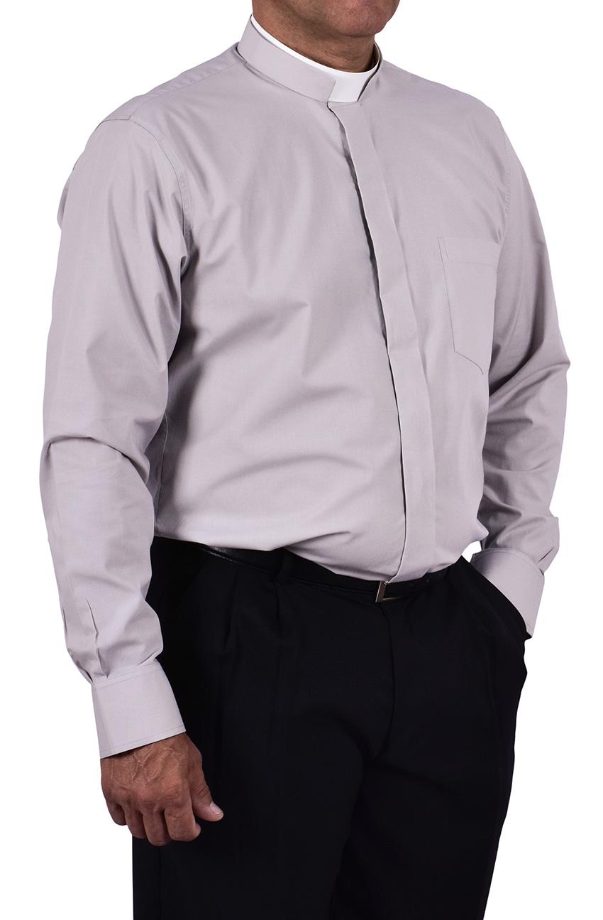 Roman Clerical Shirt Long Sleeve Gray CR168