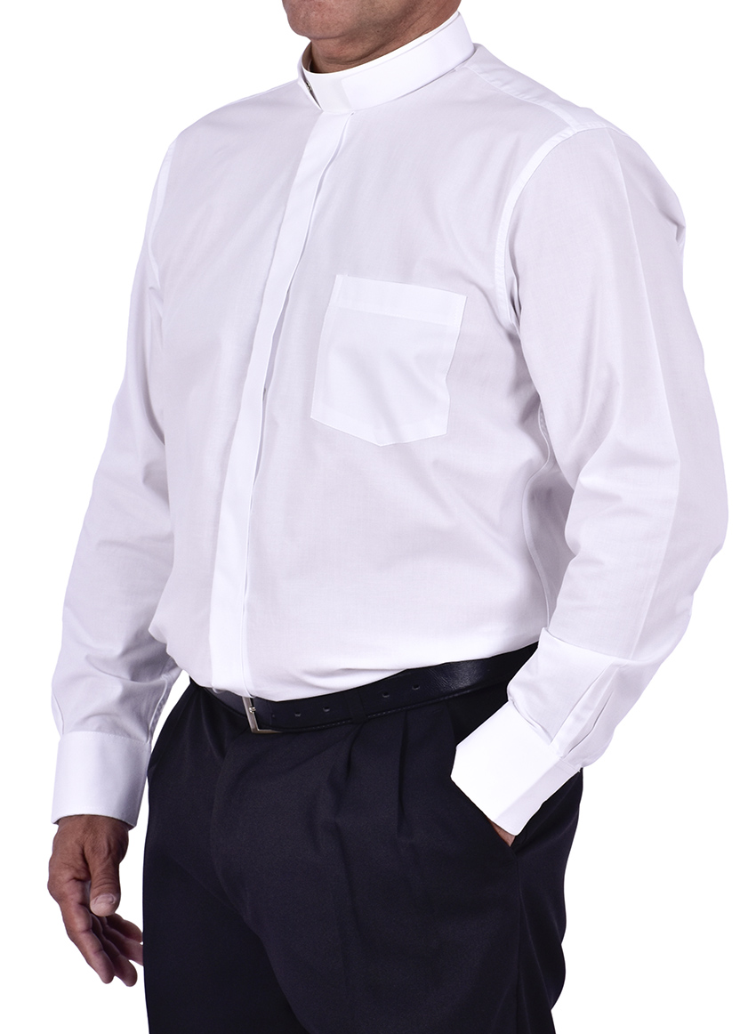 Roman Clerical Shirt Long Sleeve White CR168