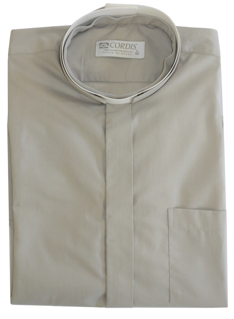 Roman Clerical Shirt Short Sleeve Gray CR167