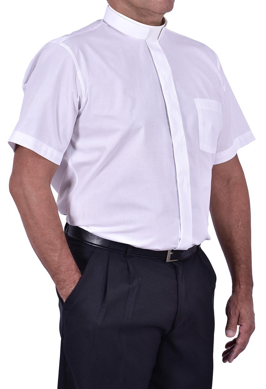 Roman Clerical Shirt Short Sleeve White CR167