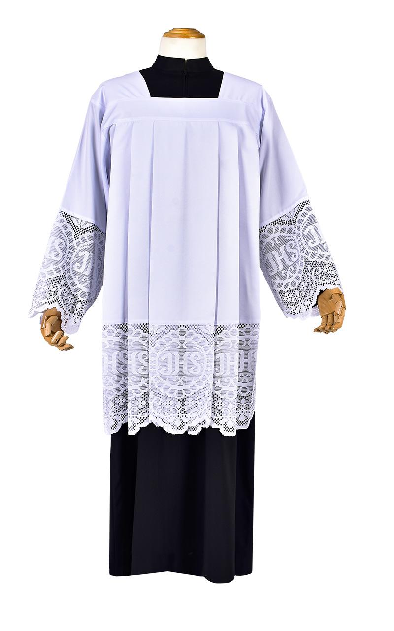Roquet Liturgical Lace JHS 30 cm RO004