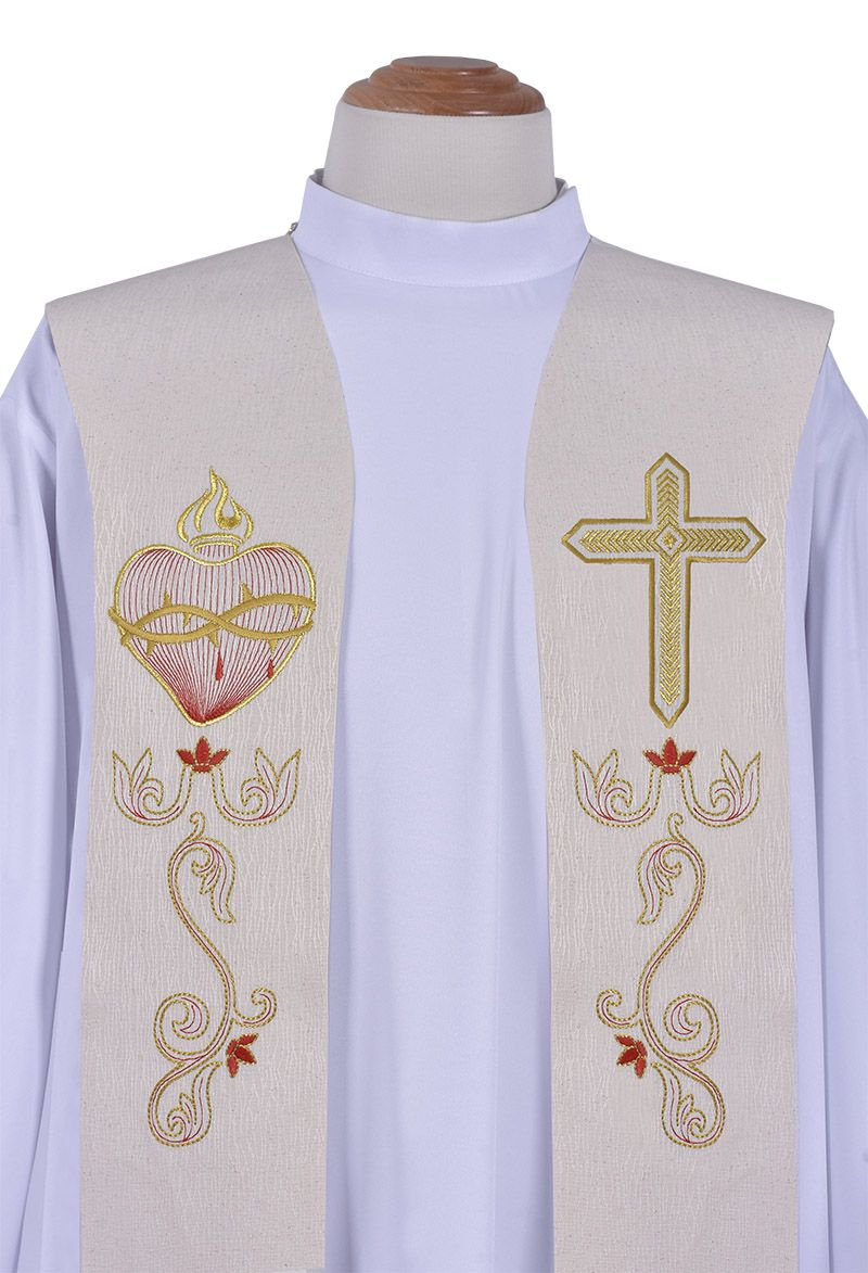 Sacred Heart Priestly Stole ES051