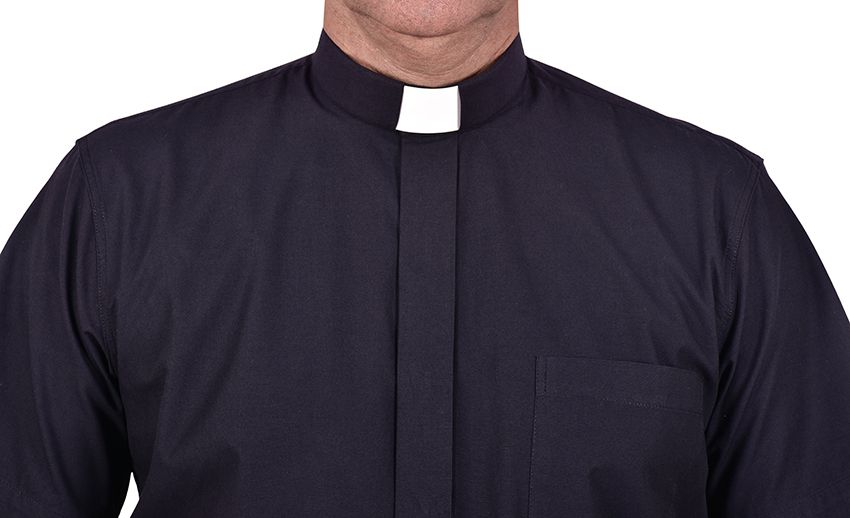 Traditional Clerical Shirt Short Sleeve Black CT067