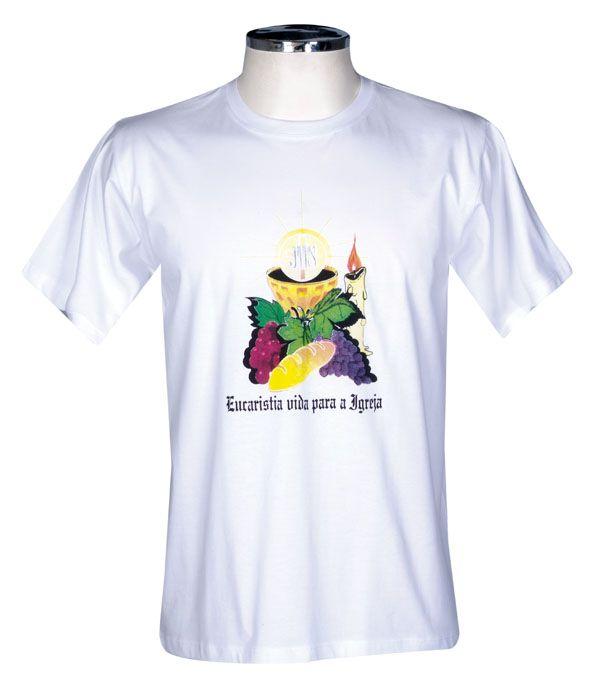 Camisa Eucaristia Adulto Branca S027