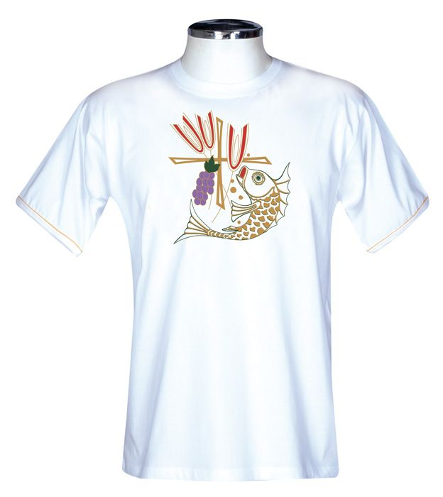 Camisa Eucaristia Adulto Branca S065