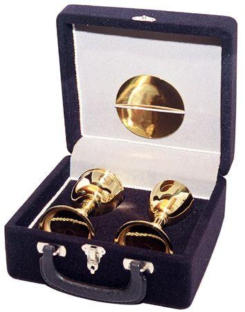 Estojo com Cálice e Âmbula Dourado Total 200