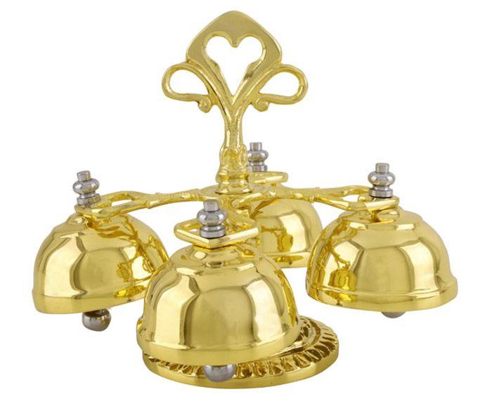 Carrilhão Dourado Total 4 Sinos - 640