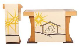 Véu S064 de Altar Natal Presépio