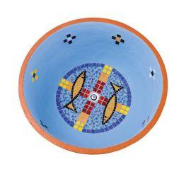 Pia Batismal Mosaico Peixe 63cm 4089