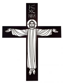 Crucifixo de Parede Vazado Ferro 120cm MM1F