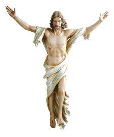 Imagem Cristo Ressuscitado Fibra 100cm 4156