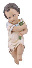 Imagem Menino Jesus com Lírio Gesso 35cm