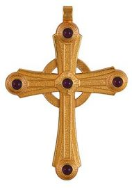 Cruz Peitoral Prata Dourada F10