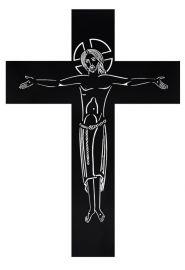 Crucifixo de Parede Vazado Ferro 119cm FA1F
