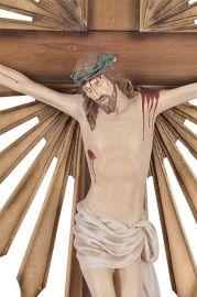 Crucifixo de Parede Ornado Resina 120cm
