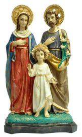 Imagem Sagrada Família Resina c/Auréola 60cm