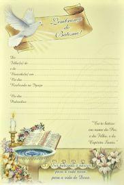 Lembrança do Batismo LB 047 - 10 un