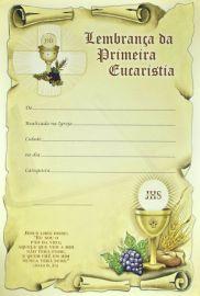 Lembrança da Primeira Eucaristia LB 042 - 10 un