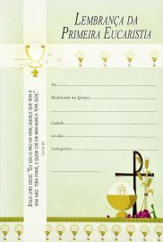 Lembrança da Primeira Eucaristia LG 66 - 10 un