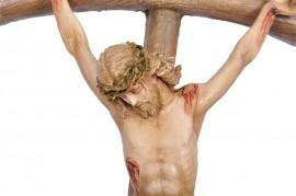 Crucifixo de Parede Fibra 63cm