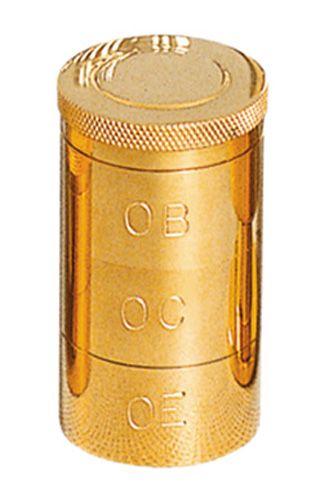 Vaso Santos Óleos Dourado com 3 7805