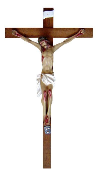 Crucifixo de Parede Gesso 145cm 699