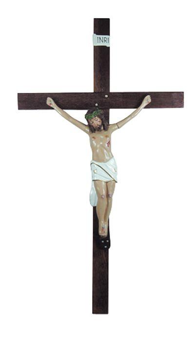 Crucifixo de Parede Gesso 210cm 699
