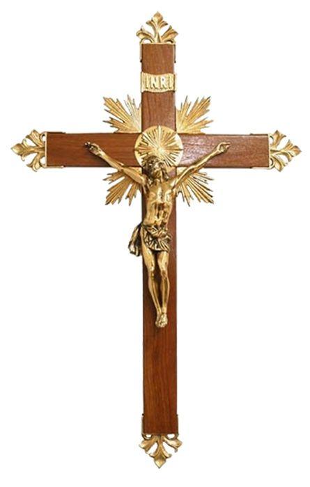 Crucifixo de Parede Metal 82cm C0313