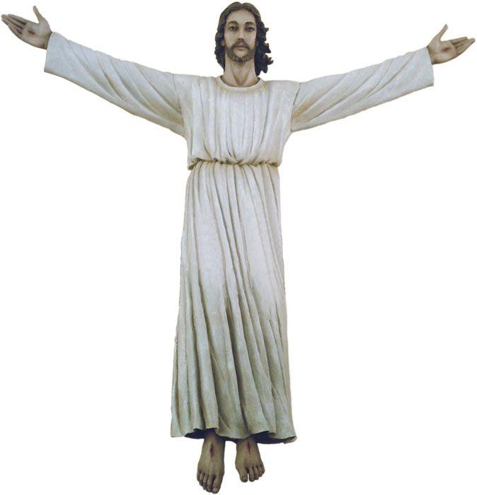 Imagem Cristo Ressuscitado Fibra/Resina 200cm 4205