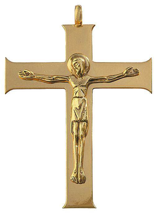 Cruz Peitoral Prata Dourada F12