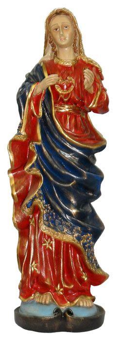 Imagem Sagrado Coração de Maria Resina 60cm