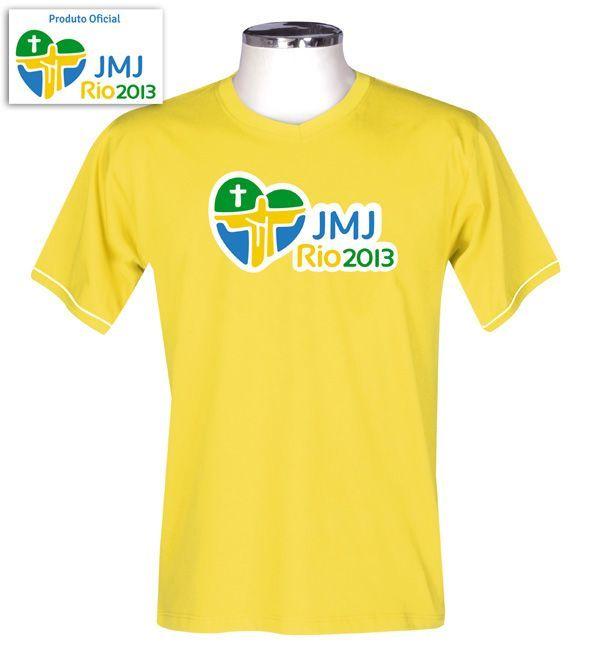 Camisa JMJ Rio 2013 Amarelo/Adulto