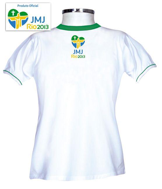 Camisa JMJ Rio 2013 - Branco - Baby  Look