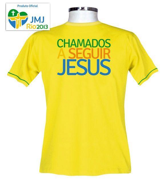 Camisa JMJ Rio 2013 - Amarelo - Baby Look