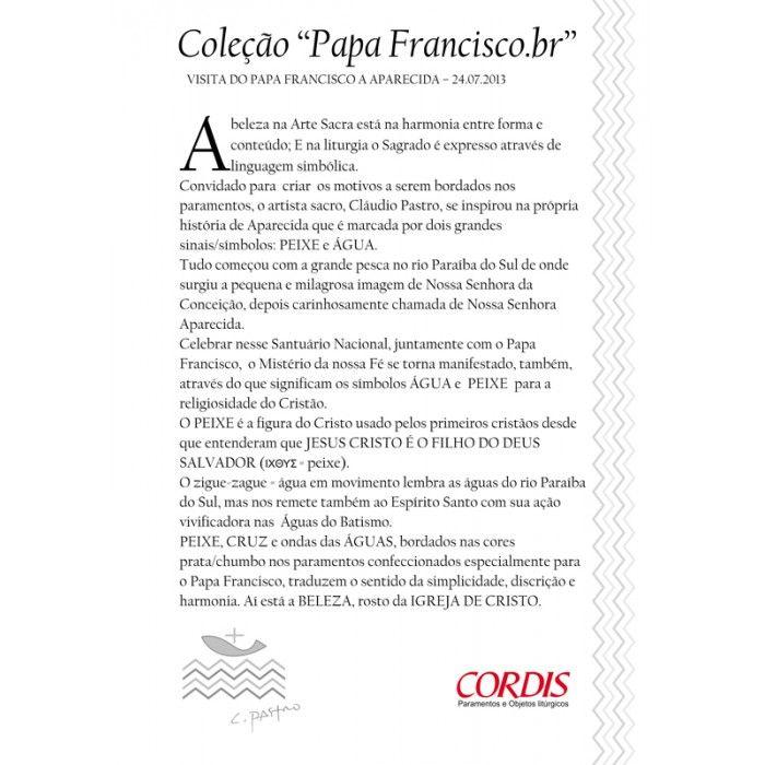 Sobrepeliz Papa Francisco.br SO139
