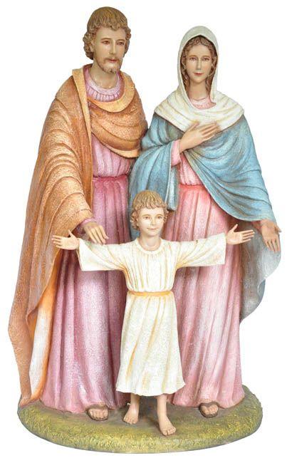 Imagem Sagrada Família Fibra 100cm